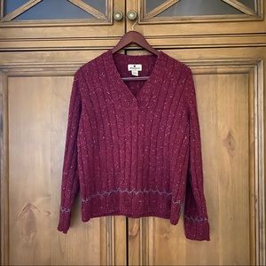 woolrich ruby heather sweater